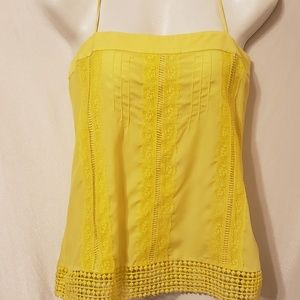 Banana Republic Yellow Tank Size 2